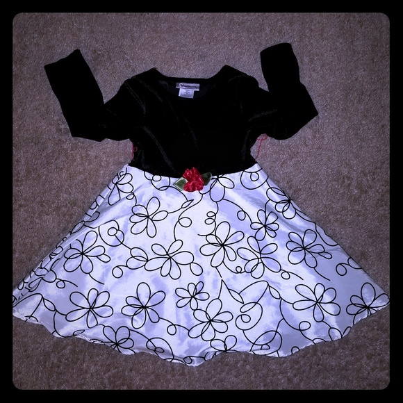Youngland Other - Girls Black and White Dress